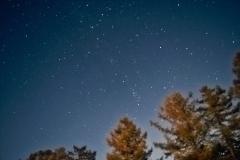 Night sky from canyon villas