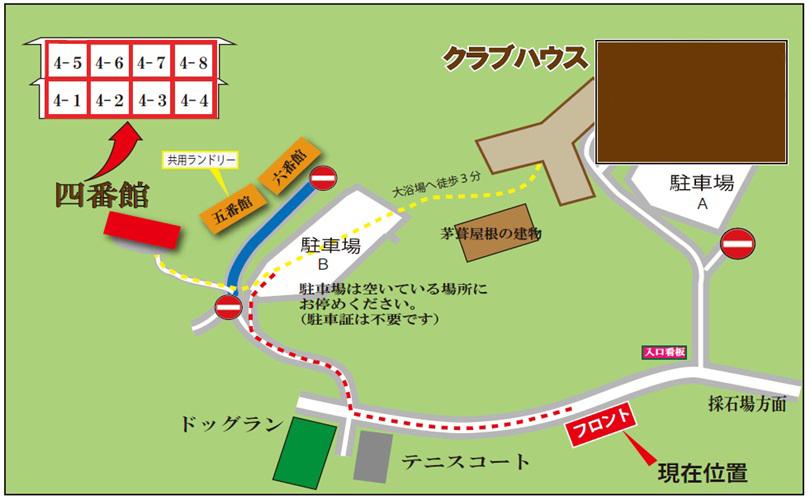 4番館への地図